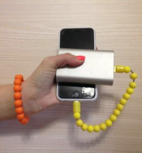 USB кабель для зарядки в виде браслета-бусы