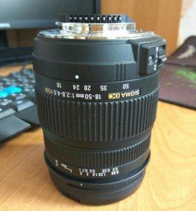 Фотообъектив Sigma 18-50 f=2.8-4.5 DC OS HSM Nikon
