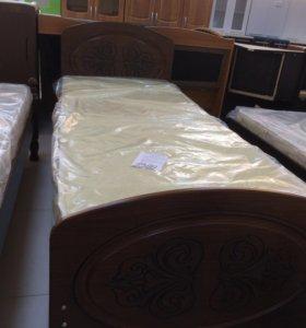 Кровать мдф с матрасом