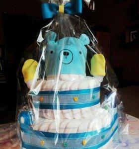 Торт из подгузников/памперсов