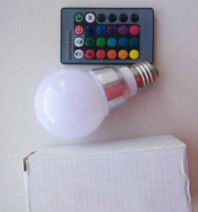 Лампа RGB разноцветная