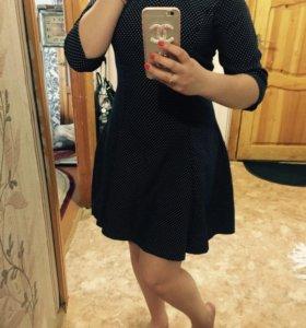 Платье синее в горошек🖖🏻