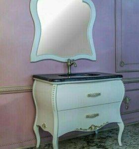 новая Тумба с раковиной, с зеркалом