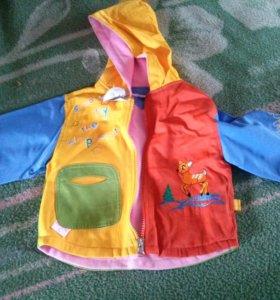 Куртка ветровка на 1 год
