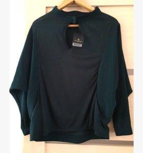 Блуза Massimo Dutti летучая мышь с вырезом(новая)