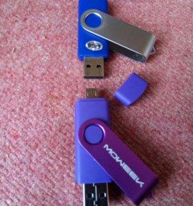 Флешка USB-MicroUSB 64GB