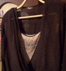 Блузка с топом