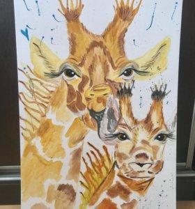 Картина Жирафы