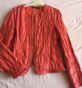 Куртка ЭКО кожа. Цвет :караловый