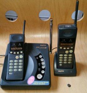 Радиотелефон Sanyo CLT 75KM дальнего радиуса 5км.