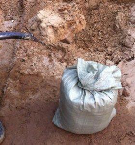 Песок, ПГС, щебень в мешках