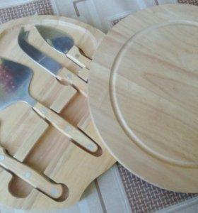 Набор ножей из дерева