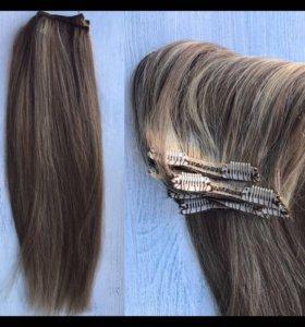 Шиньоны из натуральных волос на заколках