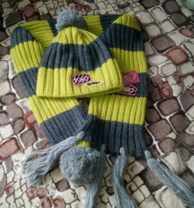 Шапка и шарф р.104