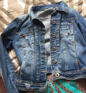 Джинсовая куртка размер 42