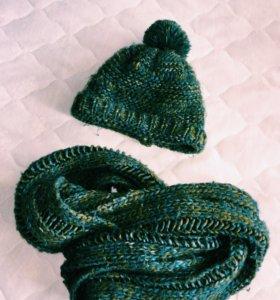 Шапочка и шарф хамут