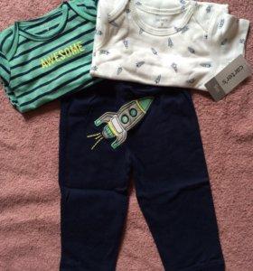 Carters комплект боди и штанишки
