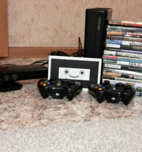 Xbox 360 + 2 джостика + kinekt + 18 игр