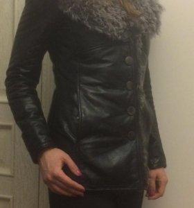 Куртка из натуральной кожи зимняя с нат.мехом