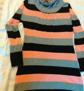 Теплое платье для беременных р.46