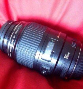 Canon 100mm f2.8 USM Macro на гарантии