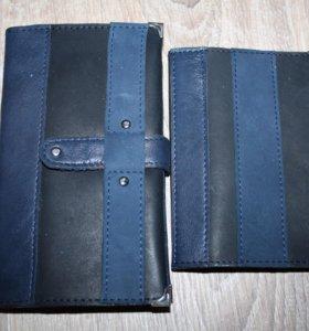 Набор из кожи- кошелек и обложка для паспорта