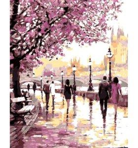 Картина-раскраска по номерам Парк