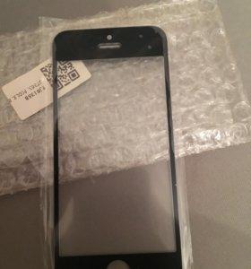 Стекло iPhone 5 чёрное