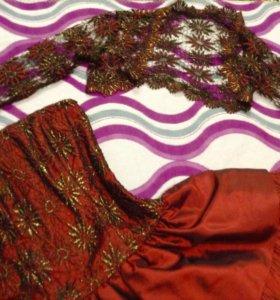 Выпускное платье+сумочка+болеро