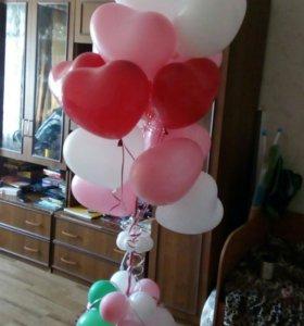 """Воздушный шарик с гелием """" Сердце"""""""
