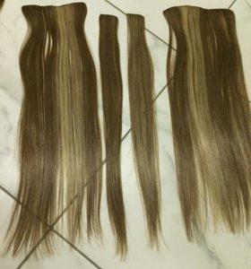 Волосы накладные 48 см, на заколках