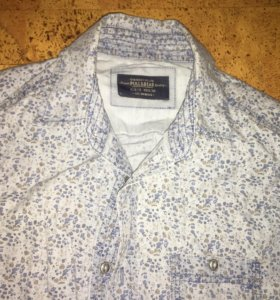 Рубашка мужская джинсовая Pull & bear размер M