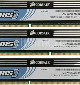 Модули памяти corsair XMS3 CMX6GX3M3A1333C9 DDR3