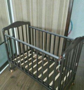 Детская кроватка Алита 2 + матрас 120х60(новая)