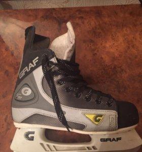 Коньки( хоккейные) размер 38