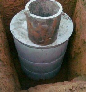 Монтаж сливных ям,канализации