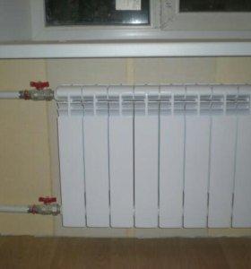 Замена радиаторов отопления.