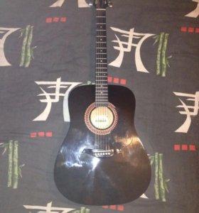 Акустическая гитара hohner hw-220tbk (новая)