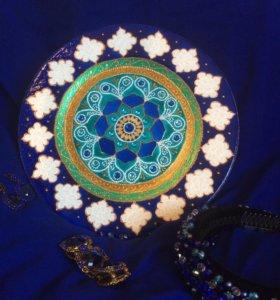Тарелка с ручной росписью