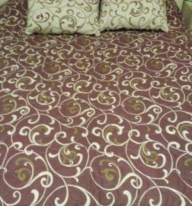 Шикарный комплект: покрывало-одеяло и 2 подушки