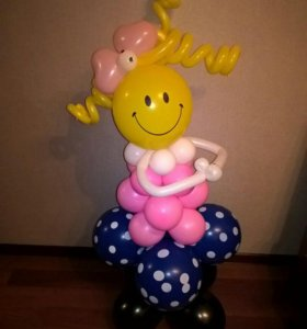 """Фигура из воздушных шаров """" Девочка """""""
