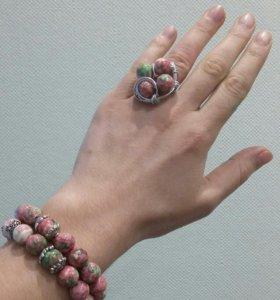Набор кольцо и браслеты handmade