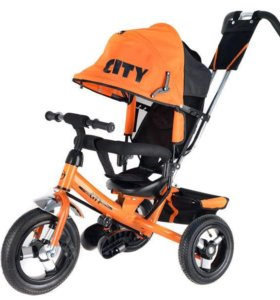 """Трехколёсный велосипед City 12-10"""" надувные колеса"""