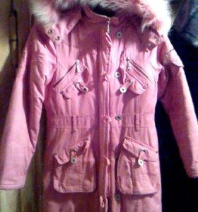 Пальто для девочки 6-8 лет