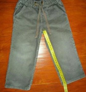 Вельветовые штаны р.92