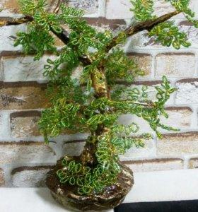 Дерево из биссера