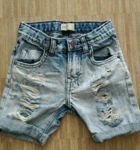 Шорты джинсовые рваные zara boys collection