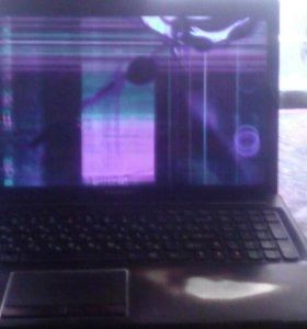 Ноут LENOVO с разбитым экраном