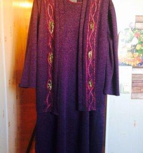 Двойка:платье и жакет