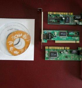 Сетевые карты - 3 шт. (Compax, CNet)
